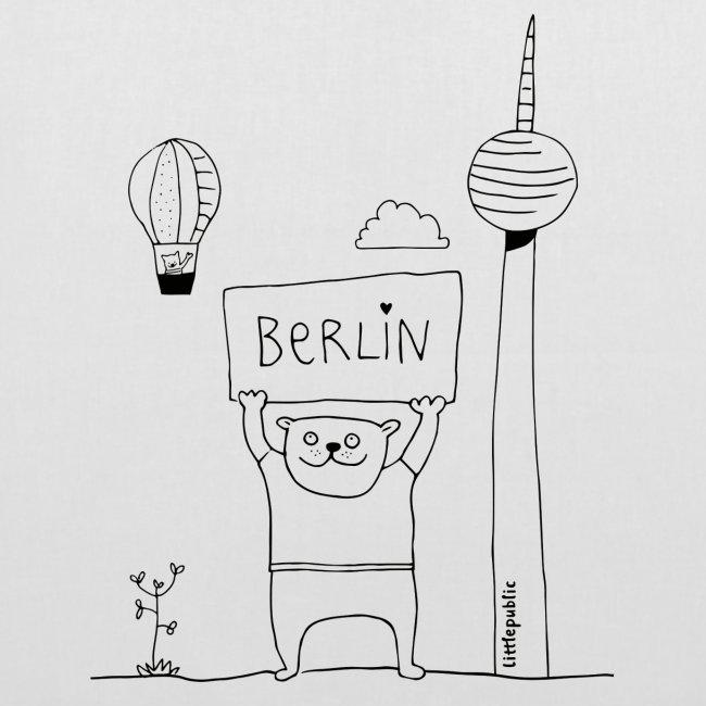 Berliner Bär Zum Ausmalen Littlepublic Stoffbeutel