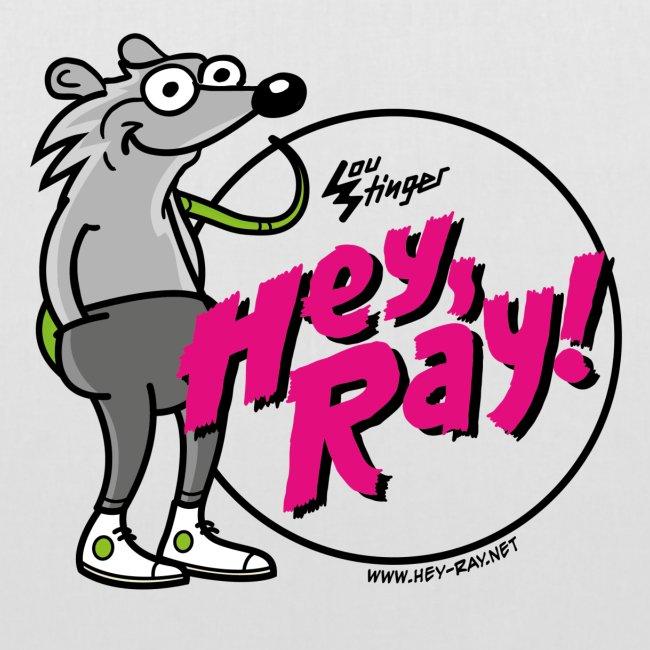 Hey Ray! Logo magenta