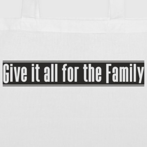 Give_it_all_for_the_Family projekt - Torba materiałowa