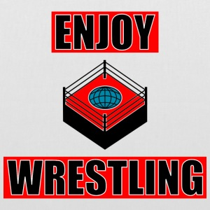 ENJOY_WRESTLING_RED_DesASD - Stoffveske