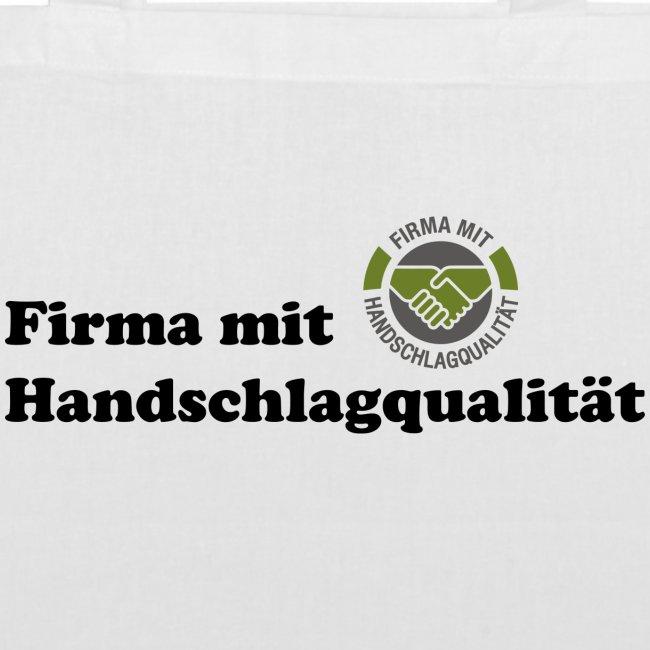 Handschlagqualität Text schwarz