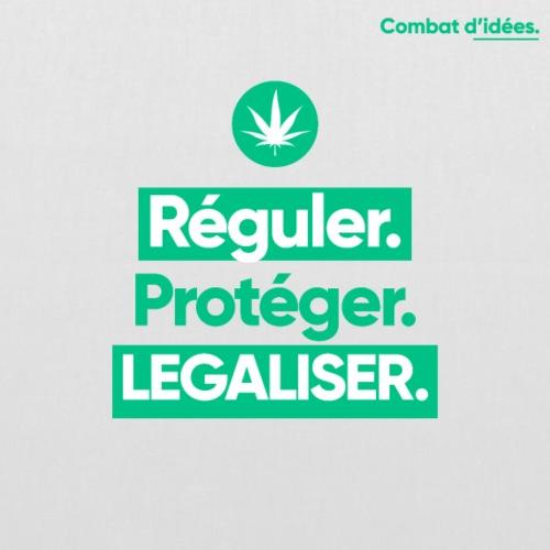 Combat d'Idées - Légalisation du cannabis - Tote Bag