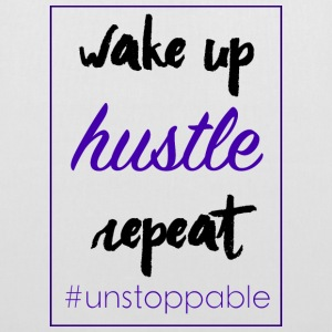 wake up, hustle, repeat - Tote Bag