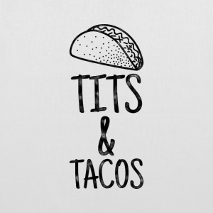 Tits & Tacos - Sayings T-shirt - Tote Bag