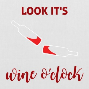 Für alle Weintrinker: Look it´s Wine o´clock - Stoffbeutel