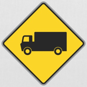 Road sign truck yellow - Tote Bag