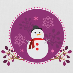 Snowman purple - Tote Bag