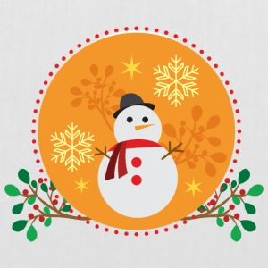 conception d'orange Snowman - Tote Bag