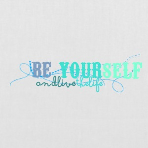 frase_png_beyourself_and_live_the_life_by_by_milii - Tote Bag