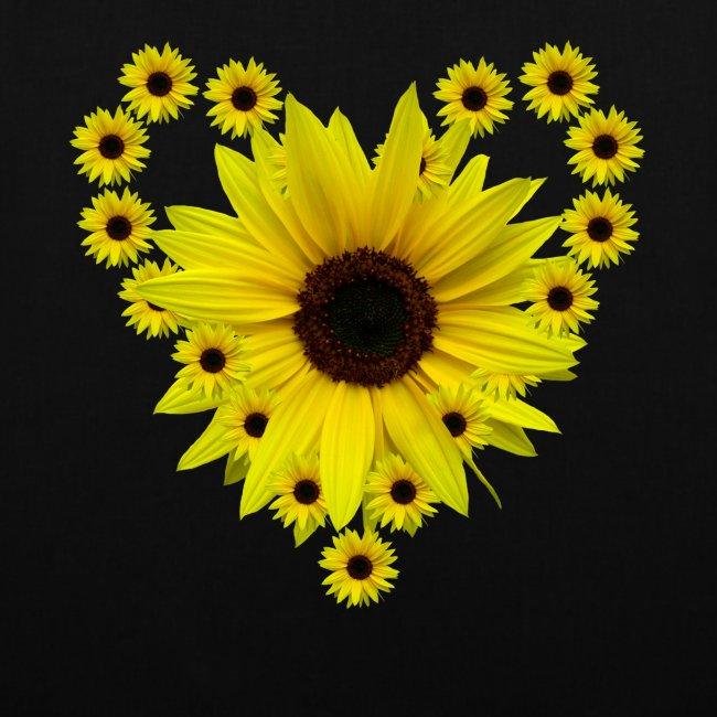 Sonnenblumenherz, Sonnenblume, Sonnenblumen, Herz