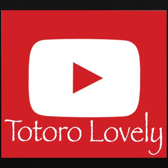 Totoro Lovely + YT logo bak, fram