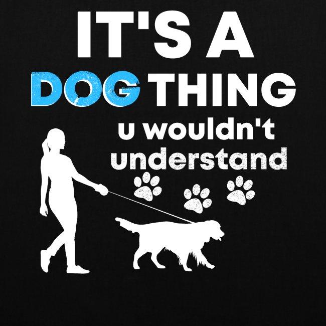 Hunde Ding Lustig Spruch Geschenk Stoffbeutel