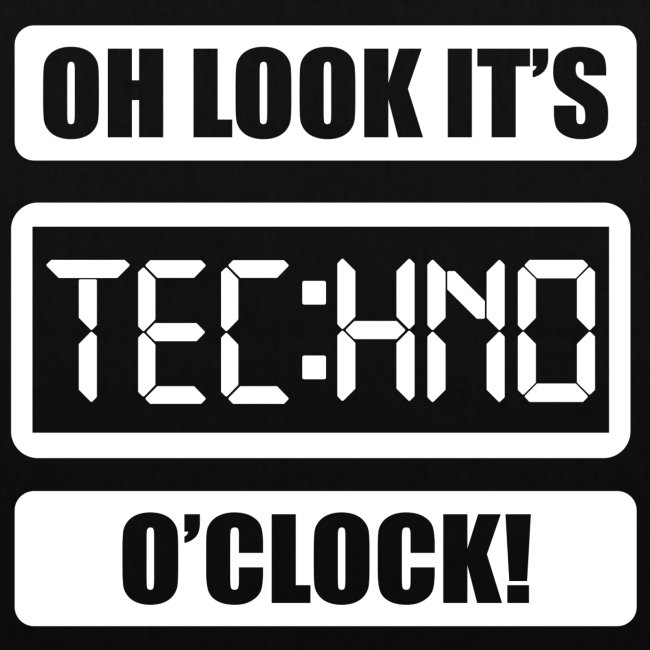 "Rave Tshirt ""Technoclock"""