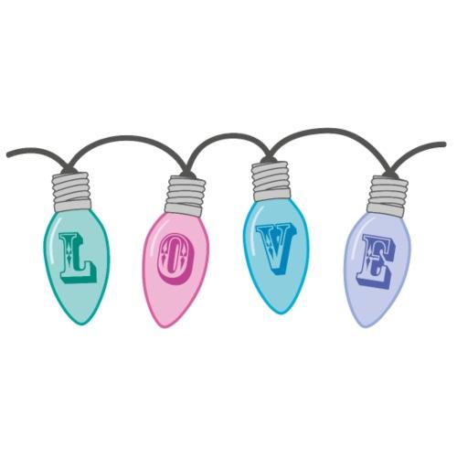Christmas LOVE Bulb / String Lights Pastel Kitsch