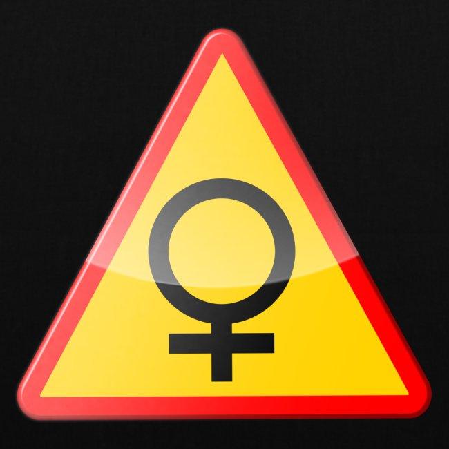 Varning för kvinna! Warning - woman!