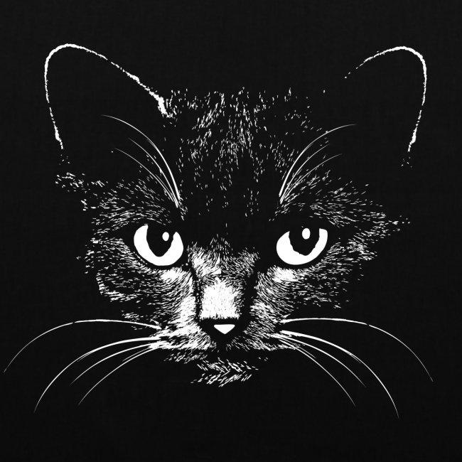 Vorschau: black cat - Stoffbeutel