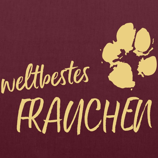 Vorschau: weltbestes Frauchen Pfote Hund - Stoffbeutel