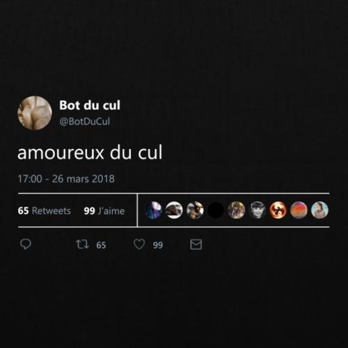 """Tweet """"amoureux du cul"""" nuit"""