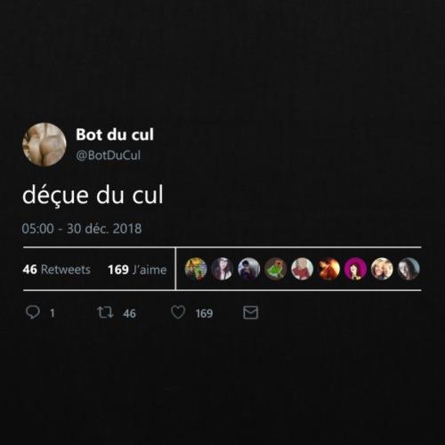 """Tweet """"déçue du cul"""" nuit"""