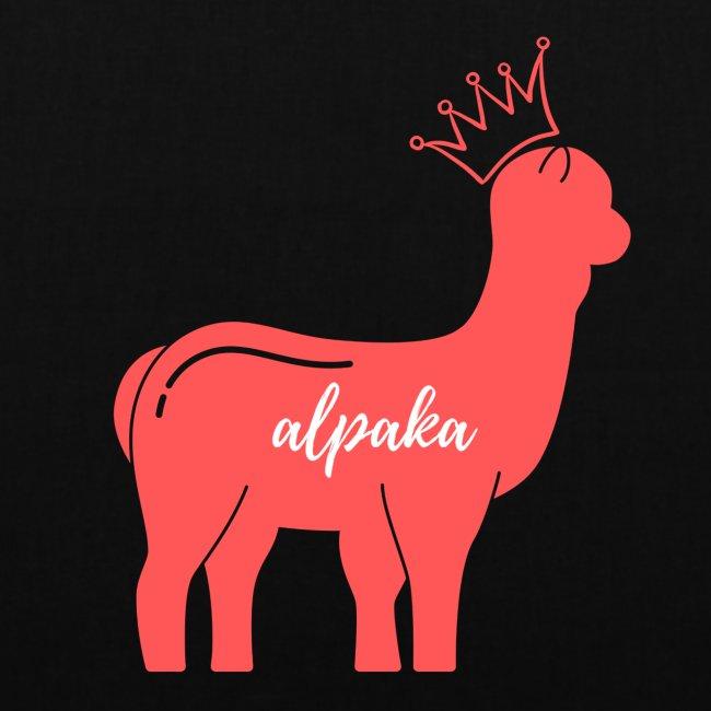 Alpaka Logo in Pink Rosa mit Krone