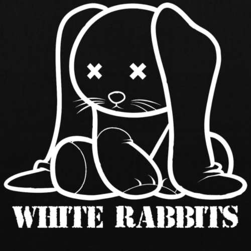 White Rabbits Logo gerade - Stoffbeutel