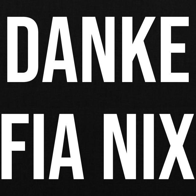 Vorschau: Danke fia nix - Stoffbeutel