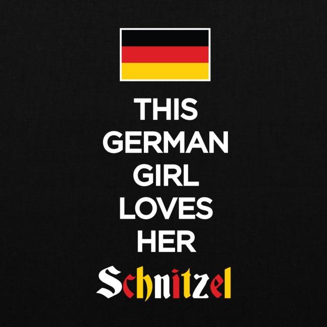 Girl loves her Schnitzel