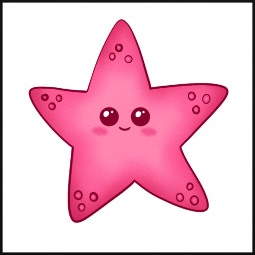 Starfish, stella marina per la camera dei bambini - Borsa di stoffa