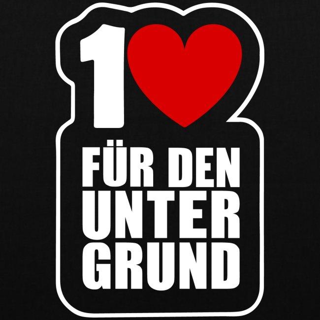 1 Herz für den Untergrund - Logo weiß