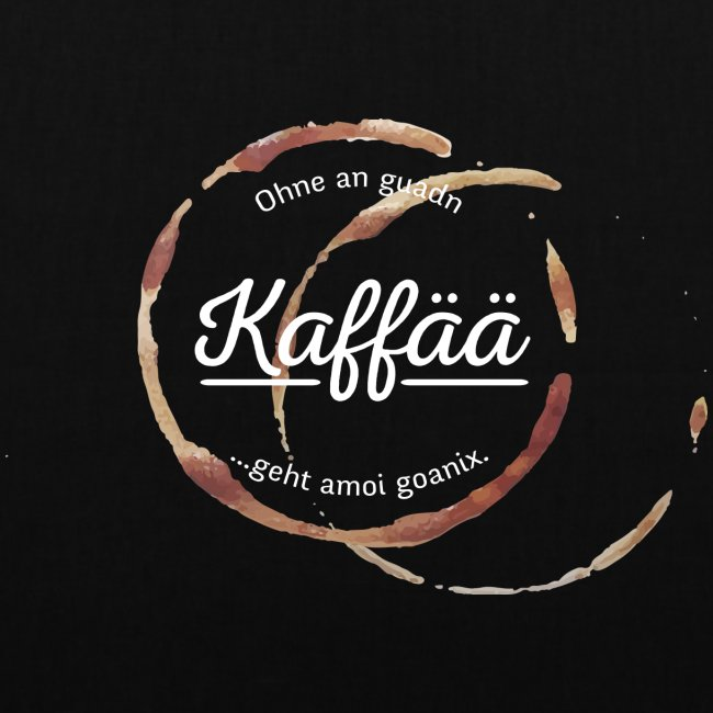 Vorschau: A guada Kaffää - Stoffbeutel