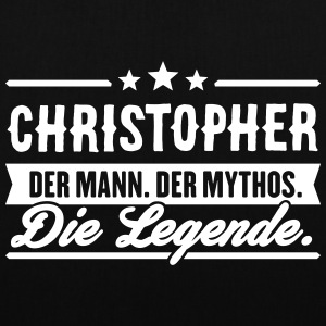 Man Myth Legend Christopher - Tote Bag