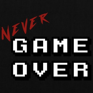 Aldri game over hvit - Stoffveske