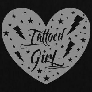 tattoed_girl_grey - Tote Bag