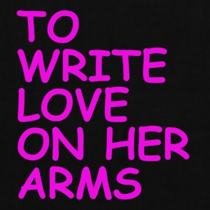 to write love on her arms lila - Stoffbeutel