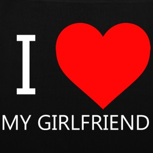I LOVE MY GIRLFRIEND T-SHIRT - Tas van stof