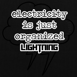 Elektriker: Electricity is just organized lightnin - Stoffbeutel