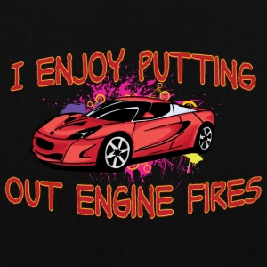I enjoy putting out engine fire red sportscar - Tote Bag