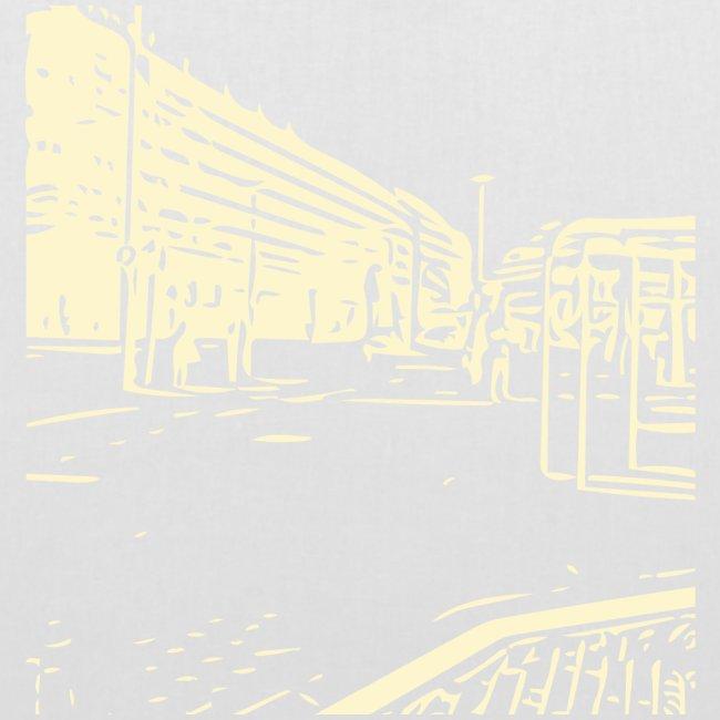 helsinki railway station pattern trasparent beige