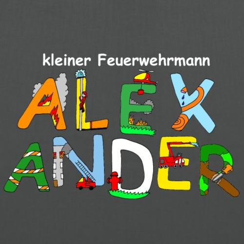 Alexander Kinder Feuerwehr Motiv mit Namen - Stoffbeutel