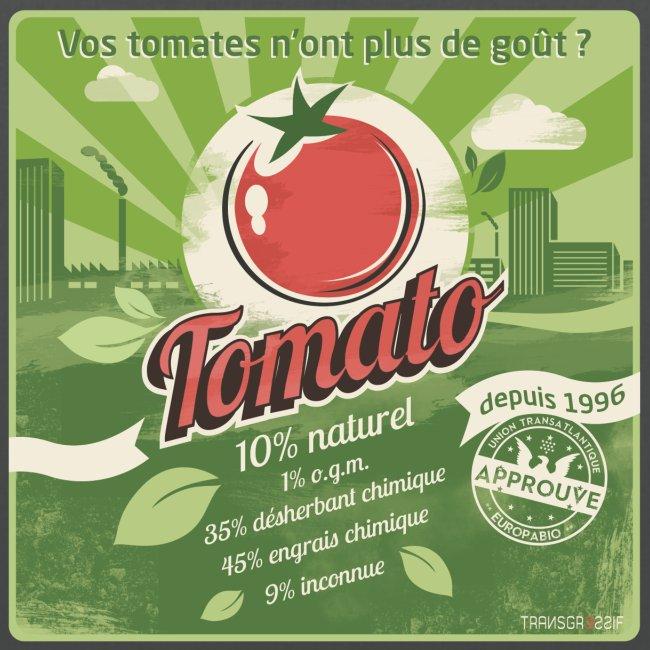 T-SHIRT près du corps homme europabio tomato