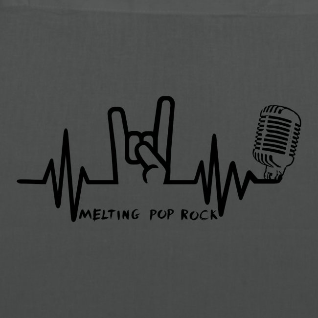 Logo noir Melting Pop Rock