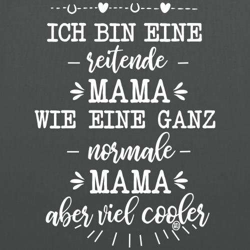 Ich bin eine reitende Mama - Stoffbeutel