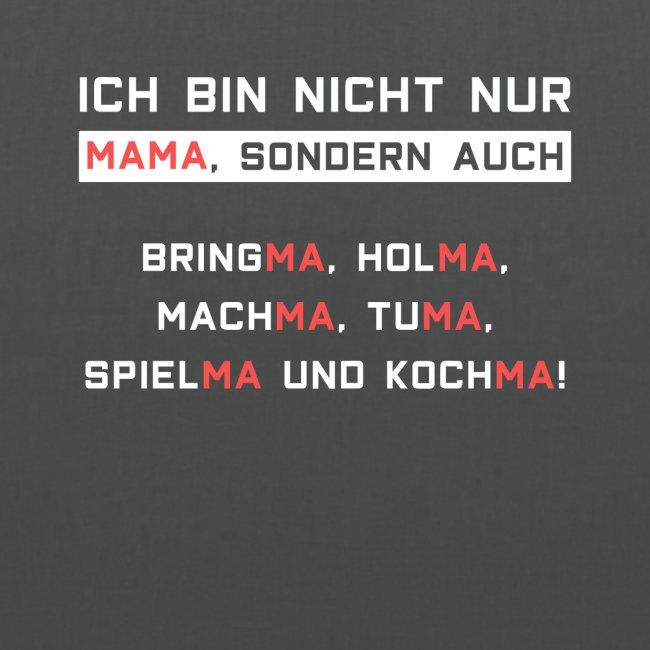 Lustiger Spruch Mama Diener Butler Mutter Geschenk Stoffbeutel