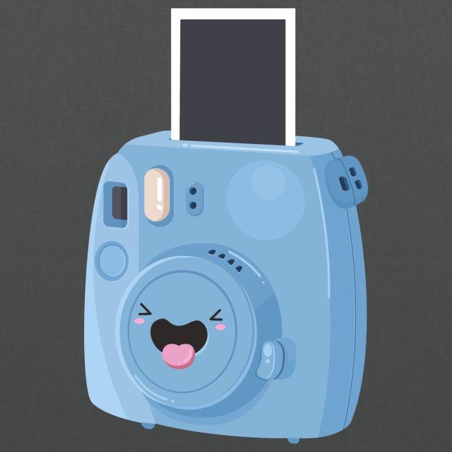 Appareil photo instantané bleu