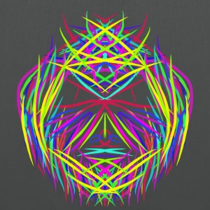 face trippy abstract psychedelic colorful - Stoffbeutel
