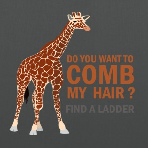 GIRAFE, DO YOU WANT TO COMB MY HAIR? - Tote Bag