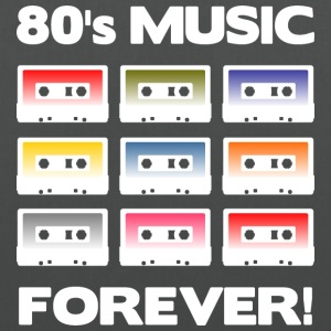 80's MUSIC FOREVER! (White) - Torba materiałowa