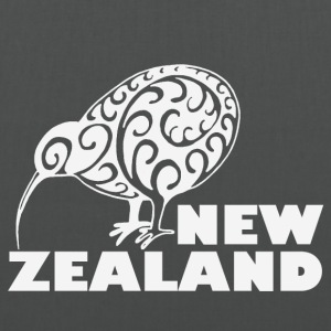 New Zealand: Kiwi with lettering in white - Tote Bag