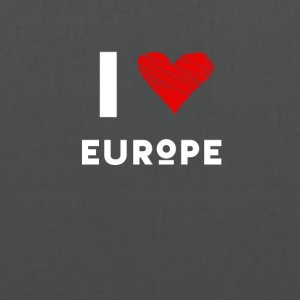 J'aime coeur l'Europe eu l'amour rouge déclaration fun Demo - Tote Bag