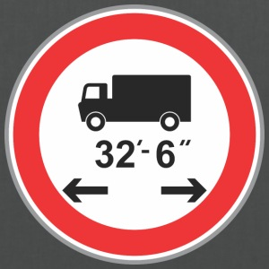 Road sign 32 6 camion - Tote Bag